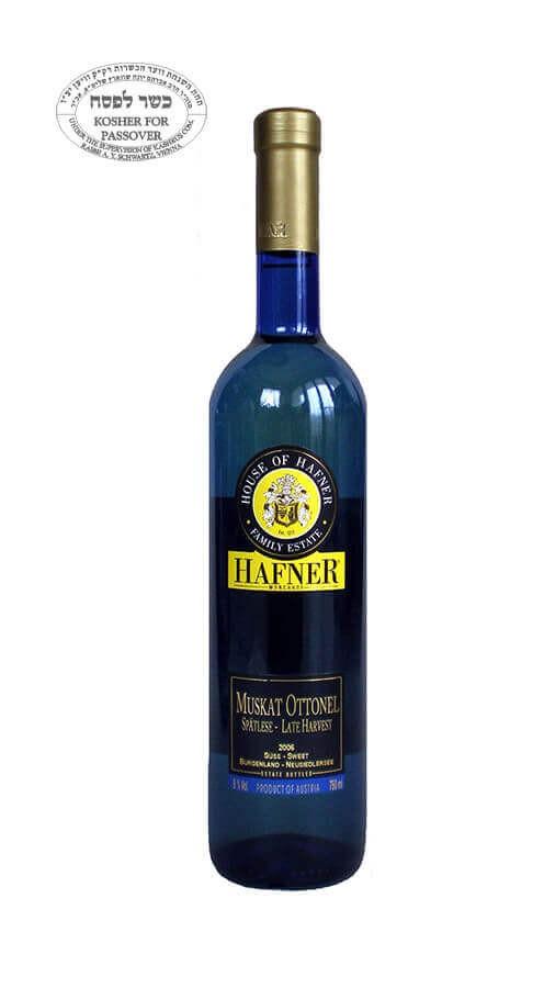 Muškát Ottonel neskorý zber Kosher víno bez histamínu